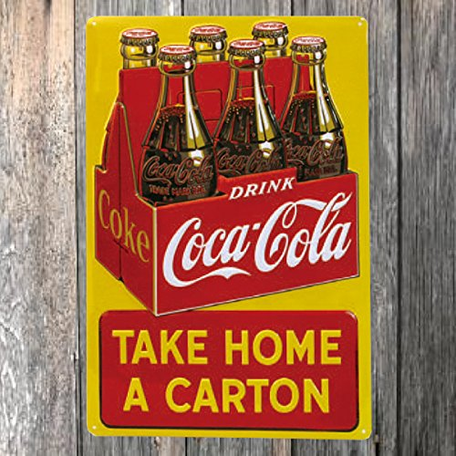 Drink Coca Cola Coke Take Home a Carton Tin Sign 12 x 17in 2