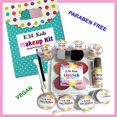 14pc-Kit-EM-Kids-Natural-Pretend-Play-Girls-Makeup-Set-w-Free-Makeup-Bag