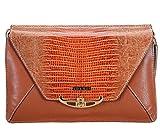 ADAMIS Women's Tan Leather Clutch (B692 Tan)