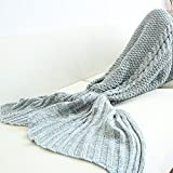 Novo Home Light Blue Mermaid Tail Blanket E,Kids Thick Mermaid Tail Blanket Snuggle Mermaid