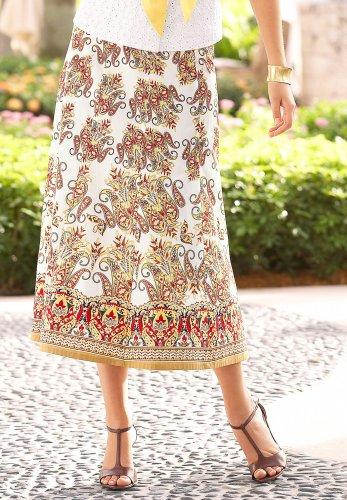 Gored Printed Skirt - Buy Gored Printed Skirt - Purchase Gored Printed Skirt (Chadwicks, Chadwicks Skirts, Chadwicks Womens Skirts, Apparel, Departments, Women, Skirts, Womens Skirts, Wrap, Wrap Skirts, Womens Wrap Skirts)