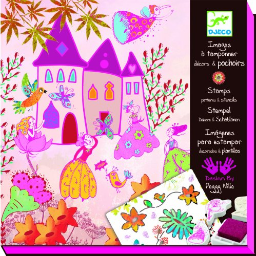 Djeco / Stamp and Stencil Kit, Fairy Princess