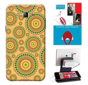 Samsung Galaxy J5 Accessories Combo, Premium Quality Designer Printed 3D Lightweight Slim Matte Finish Hard Case Back Cover for Samsung Galaxy J5 + Free Earphone Cable Organizer + Mobile Charging Holder/Stand