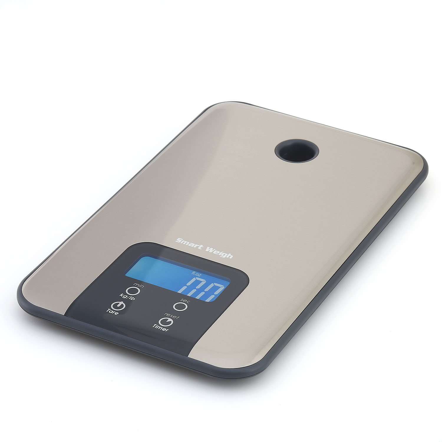 Smart weigh snt100 slim stainless steel digital kitchen for Best smart kitchen scale