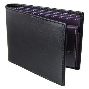 ETTINGER エッティンガー 二つ折り財布 メンズ ロイヤルコレクション ST 141JR BLACK ブラック×パープル 【並行輸入品】