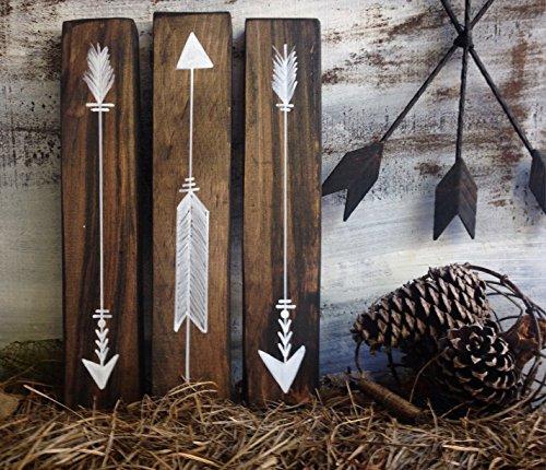 Rustic wood arrow sign décor, woodland nursery arrows, decorative wood arrow, tribal wood arrow