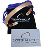 Copper Bracelet for Arthritis - GUARANTEED 99.9% PURE Copper Magnetic Bracelet For Men & Women With 6 Powerful Magnets For Effective & Natural Relief Of Joint Pain, Arthritis, RSI, & Carpal Tunnel! (Color: Copper, Tamaño: 1 Bracelet)