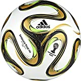 adidas Performance Brazuca 2014 Final Mini Soccer Ball, White/Solar Green/Gold, 1