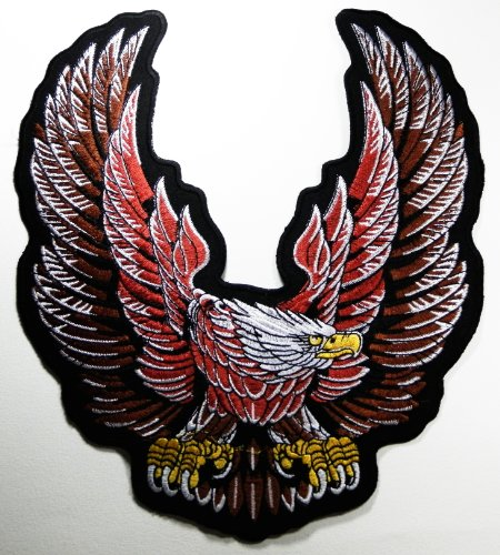 American Bald Eagle Patches Logo1 Us National Symbol Biker Jacket Vest Large Embroidered Patch