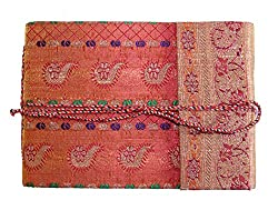 Handmade Sari Scrap Book and Photo Album (Size 7x5 inch)