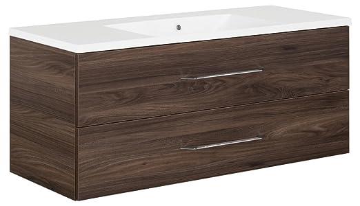Fackelmann B. Clever-Mobile sottolavello + lavabo (120cm) marrone olmo Madera, 82897