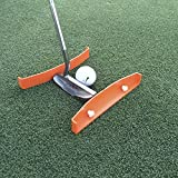 Putting Aid for Golf - Portable Golf Putting Alignment and Aim Practice Training Tool - Compatible with All Putter Styles and Works on any Golf Putting Green. TIBA Putt, Made in USA.