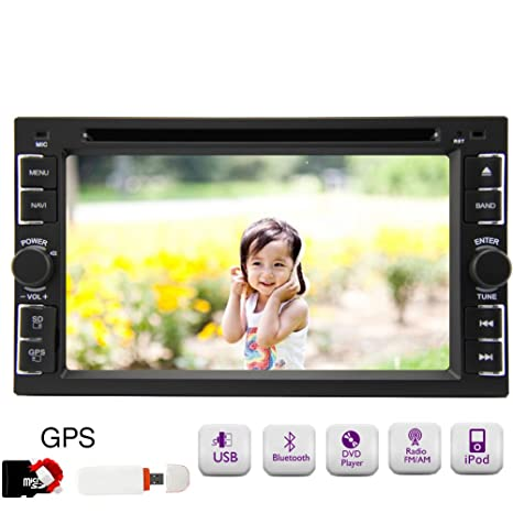 100% vente New Universal Puput Hot !! Car Autorš¢dio Double 2 Din dans la platine 6.2inch Bluetooth voiture lecteur DVD avec navigation GPS autoradio gratuit 3G Dongle 8GB mapcard Ipod Car Pc FM stšŠršŠo AM RDS Auto