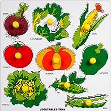 Little Genius Vegetables With Big Knob, Multi Color (Large)