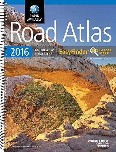 Rand McNally 2016 Road Atlas EasyFinder (Rand Mcnally Road Atlas Midsize Easy to Read)