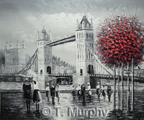 london-street-scene-with-tower-bridge-by-the-river-thames-fine-art-oil-on-canvas-painting-superb-qua