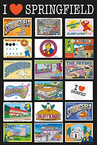 GB eye, The Simpsons, Postcards, Maxi Poster, 61x91.5cm