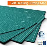 Self Healing Rotary Cutting Mat, 24x36, Best for Quilting Sewing | Warp-Proof & Odorless (Not From China), Free Extended Warranty Backed By Amazon Guarantee