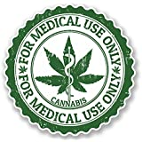 2 x Cannabis Vinyl Sticker Decal iPad Laptop Medical Use Weed Marijuana #4652 (10cm x 10cm)