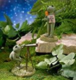 Grasslands Road Stargazer Frog Figurines 6-Inch Set of 2 Gift Boxed