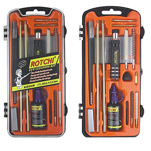 ROTCHI Airgun Cleaning Kit of .177cal&.22cal for shooting (Bb Gun Cleaning Kit compare prices)