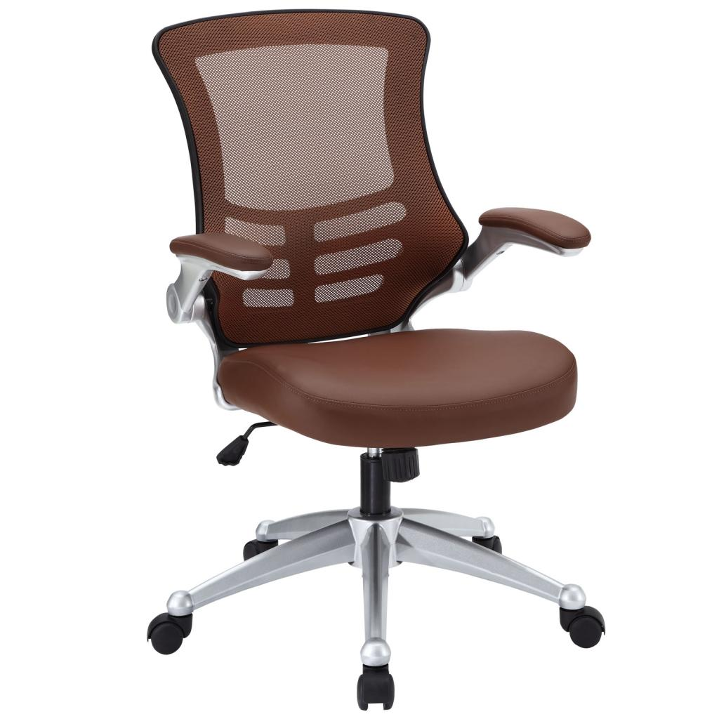 lexmod attainment office chair with tan mesh