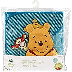 Winnie The Pooh Hooded Towel Gift Set by Regent Baby Products, Disney