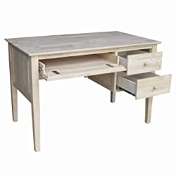 Unfinished Desk with 3 Drawers