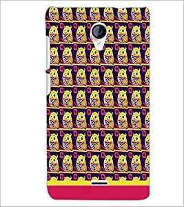 PrintDhaba Owl Pattern D-1648 Back Case Cover for MICROMAX A106 UNITE 2 (Multi-Coloured)