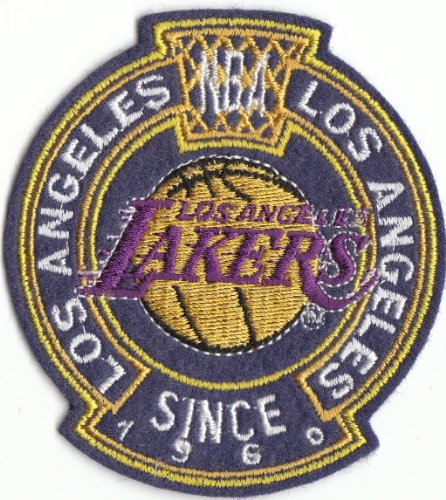 Large Vintage 1980S Nba La Los Angeles Lakers Est. 1960 4 1/2 Inch Logo Patch (Sew On) front-105608