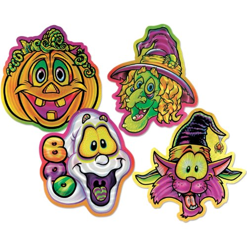 Halloween Pals Lazer Etched Wall-Plaques  (4/Pkg)