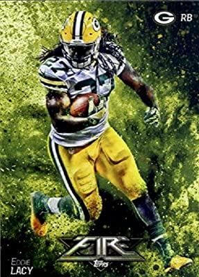 2014 Topps FIRE Football Card #52 Eddie Lacy - Green Bay Packers MINT