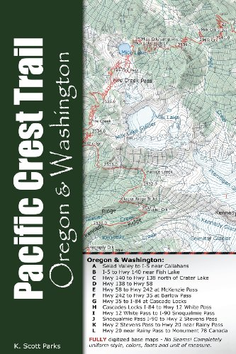 Pacific Crest Trail Pocket Maps - Oregon & Washington