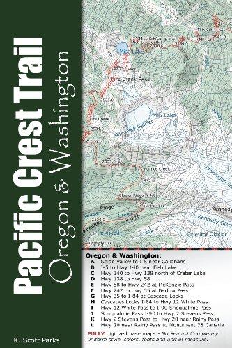 Pacific Crest Trail Pocket Maps - Oregon & Washington