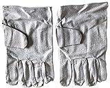 帆布 両面 5本指 手袋 軍手 キャンバス 厚手 溶接 塗装 板金製品の取り扱い作業 フリーサイズ