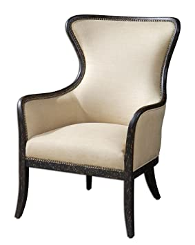 High Pointe Furnishings, Vallois Tan WingBack Armchair