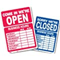 Headline Sign 9574 Double-Sided Open/Closed Sign with Business Hours, 10.5 Inches by 14.5 Inches