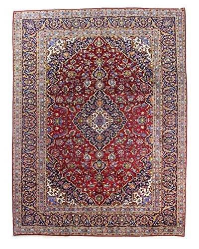 "Bashian Rugs One-of-a-Kind Hand Knotted Persian Kashan Rug, Red, 9' 10"" x 13' 2"""