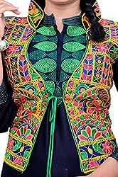 TIA's Women's Kutch embroidered Shrug/Navratri special Gujarati koti / Short jacket design 2