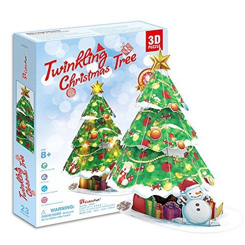Georgie-Porgy-3D-Puzzle-mit-LED-Licht-Kreative-DIY-Weihnachtsgeschenke-Weihnachtsbaum