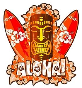 Amazon.com: Aloha Tiki Mask with Surfboards - Hawaiian Art