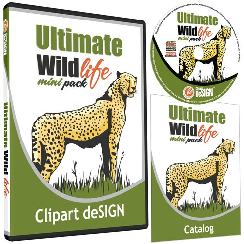 Wildlife/Animals Clipart-Vinyl Cutter Plotter Clip Art Images-Sign Design Vector Art Graphics Cd-Rom front-655500