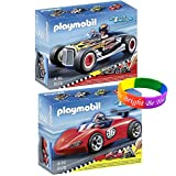 Playmobil Racing Car Set Includes: Sports Racer And Heat Racer With Dimple Bracelet
