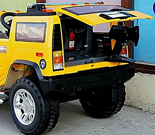 electric battery operated ride on car for kids hummer h2 model 1206 yellow