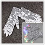 LAUNQI�1 Pair Sequined LED Light-Up G...