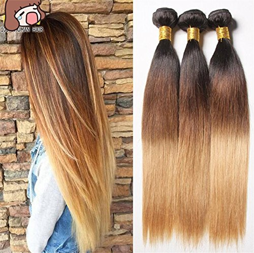 Cool2day-Ombre-European-Hair-T-Hair-Products-7A-Ombre-Virgin-Hair-3-Bundles-Ombre-Straight-Human-Hair-Weave-1b427-Three-Tone