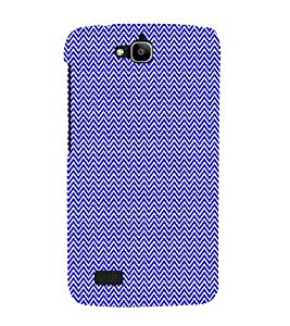 Small Lines Chevron Blue Pattern 3D Hard Polycarbonate Designer Back Case Cover for Huawei Honor Holly :: Honor Holly