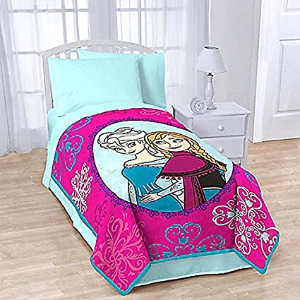 "Frozen Anna and Elsa ""Snowflake"" Fleece Blanket by Disney"