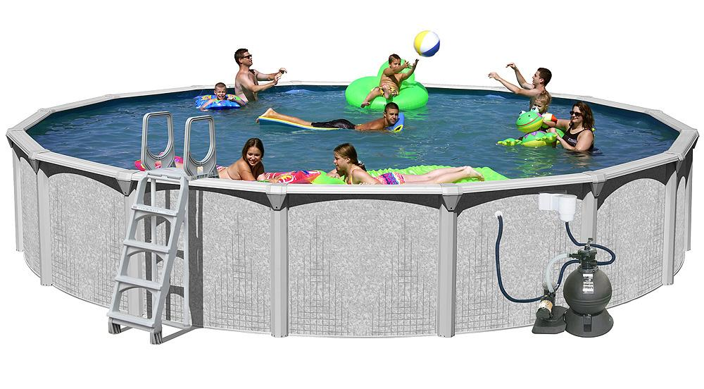 splash pools above ground round pool package 24 feet by 52 inch above ground