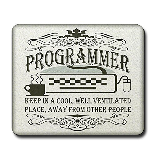 CafePress - Vintage Programmer Mousepad - Non-slip Rubber Mousepad, Gaming Mouse Pad
